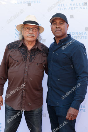 Edward James Olmos and his son Michael Olmos