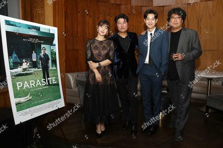 Park So Dam, Song Kang Ho, Choi Woo Shik and Bong Joon Ho (Director)