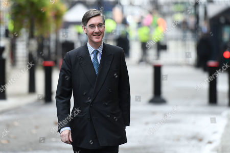 Jacob Rees-Mogg, Leader of the House of Commons, leaving No.10 Downing Street, London.