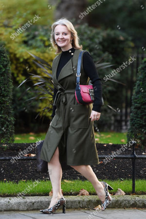 Liz Truss, Secretary of State for International Trade, arriving at No.10 Downing Street, London.