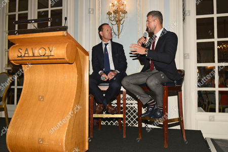 Stock Image of Carl Froch (R) and Adam Smith during the Boxing Writers Club Annual Dinner at the Savoy Hotel on 7th October 2019
