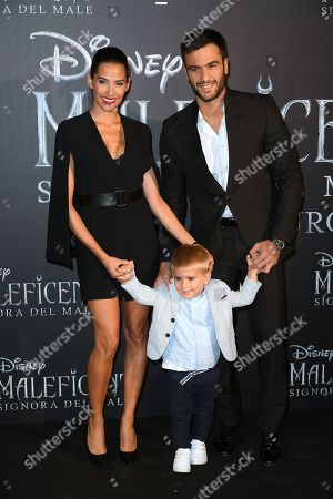 Ariadna Romero with son