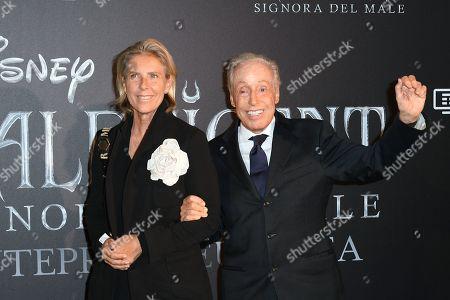 Stock Photo of Renato Balestra and daughter Federica