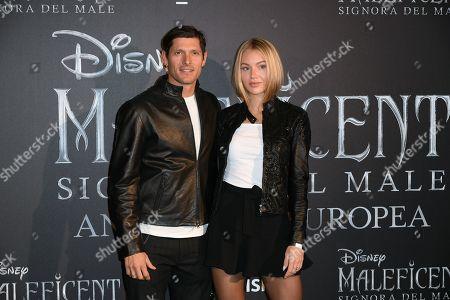 Aldo Montano and wife Olga Plachina