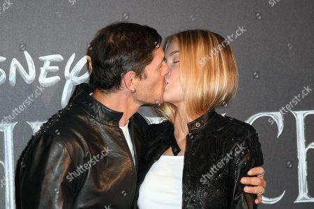 Stock Picture of Aldo Montano and wife Olga Plachina
