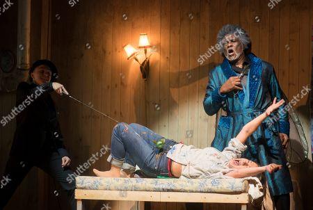 Stock Photo of Mary Bevan as Eurydice Willard White as Jupiter