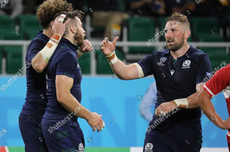 Tommy Seymour - Scotland winger celebrates his second half try with John Barclay.
