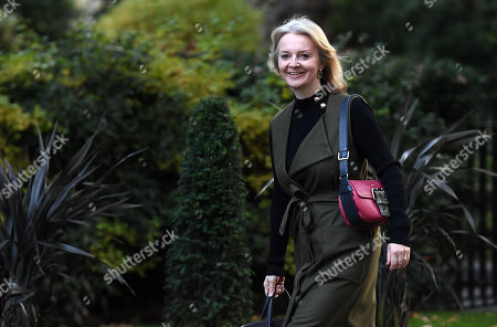British Secretary of State for International Trade and President of the Board of Trade, Minister for Women and Equalities Liz Truss arrives for a cabinet meeting at 10 Downing Street in London, Britain, 08 October 2019.