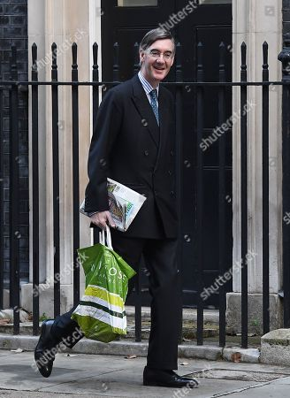 British Leader of the House of Commons, Lord President of the Council Jacob Rees-Mogg arrives for a cabinet meeting at 10 Downing Street in London, Britain, 08 October 2019.