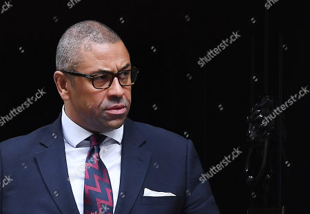 Party Chairman James Cleverly departs a cabinet meeting at 10 Downing Street in London, Britain, 08 October 2019.