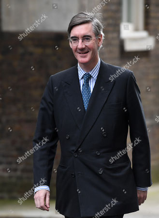 British Leader of the House of Commons, Lord President of the Council Jacob Rees-Mogg departs a cabinet meeting at 10 Downing Street in London, Britain, 08 October 2019.