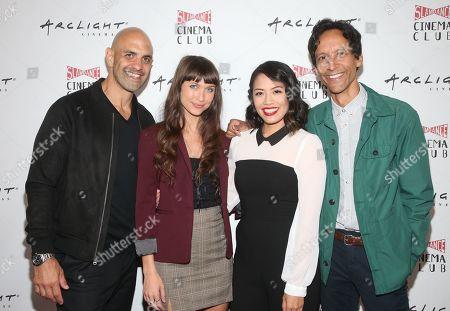 Stock Photo of Eddie Alfano, Maiara Walsh, Emily C. Chang, Danny Pudi