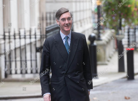 Jacob Rees-Mogg, Leader of the House of Commons, Lord President of the Council, leaves the Cabinet meeting.