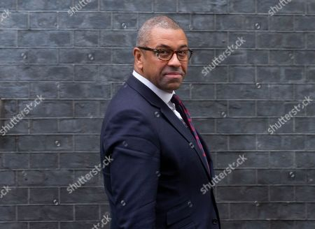 James Cleverly, Party Chairman, leaves the Cabinet meeting.