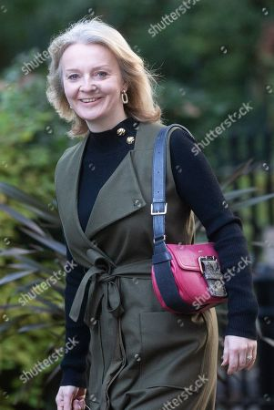 Liz Truss, Secretary of State for International Trade and President of the Board of Trade, Minister for Women and Equalities, arrives for the Cabinet meeting.