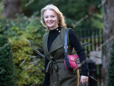 Stock Photo of Liz Truss, Secretary of State for International Trade and President of the Board of Trade, Minister for Women and Equalities, arrives for the Cabinet meeting.