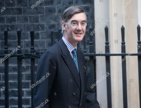 Jacob Rees-Mogg, Leader of the House of Commons, Lord President of the Council, arrives for the Cabinet meeting.