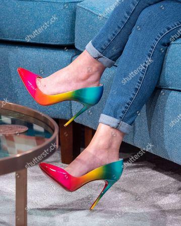 Michelle Hardwick, shoe detail