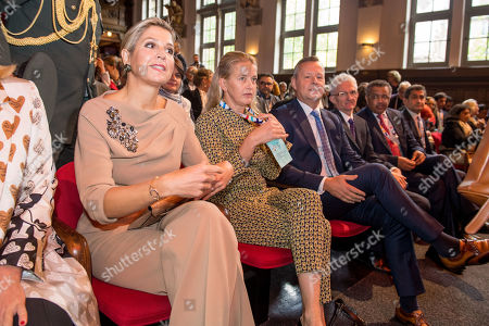 Queen Maxima and Princess Mabel at conference Mental Health and Psychosocial Support