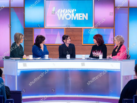 Stock Picture of Ruth Langsford, Coleen Nolan, Pearl Lowe, Janet Street-Porter and Gloria Hunniford