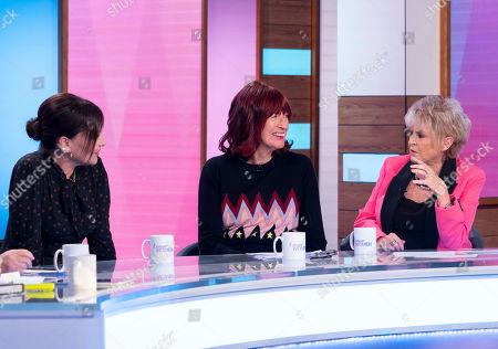 Pearl Lowe, Janet Street-Porter and Gloria Hunniford