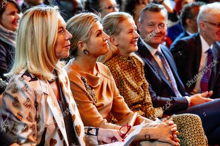Stock Photo of Dutch Queen Maxima (2-L) and Princess Mabel (3-L) attend the Conference for Mental Health and Psychosocial Support at the Royal Tropical Institute in Amsterdam, The Netherlands, 08 October 2019.