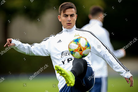 Argentina?s Paulo Dybala attends a training session in Kamen, Germany, 08 October 2019. Argentina will face Germany in an international friendly soccer match on 09 October 2019.