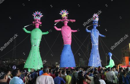 Editorial photo of Dussehra festival celebrations in India, New Delhi - 08 Oct 2019