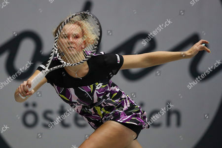 Katerina Siniakova of Czech Republic in action