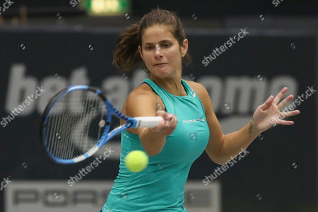 Julia Goerges of Germany in action during her match