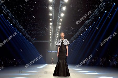 A model presents a creation by Lebanese designer Rani Zakhem during the 'Designers and Brands' fashion show in Beirut, Lebanon, 08 October 2019.
