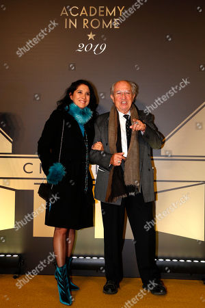 "Stock Image of Vittorio Storaro, right, and his daughter Francesca arrive for an event of the Academy of Motion Pictures, Arts and Sciences at Rome's Palazzo Barberini, . The Academy Museum of Motion Pictures has announced a partnership with Italy's Istituto Luce ? Cinecittà under which the state film entity will become a ""founding supporter"" of the museum as part of a five-year agreement that will involve a series of annual events celebrating Italian cinema"