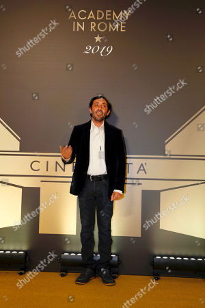 """Stock Photo of Actor Marcello Fonte poses for photographers as she arrives for an event of the Academy of Motion Pictures, Arts and Sciences at Rome's Palazzo Barberini, . The Academy Museum of Motion Pictures has announced a partnership with Italy's Istituto Luce ? Cinecittà under which the state film entity will become a """"founding supporter"""" of the museum as part of a five-year agreement that will involve a series of annual events celebrating Italian cinema"""