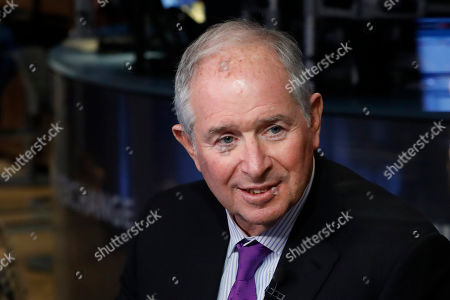 Stephen Schwarzman, chairman, CEO and co-founder of the investment firm Blackstone, is interviewed on the floor of the New York Stock Exchange