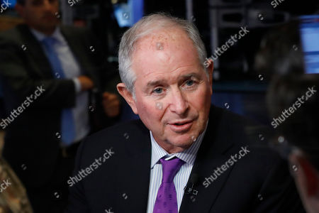 Stock Image of Stephen Schwarzman, chairman, CEO and co-founder of the investment firm Blackstone, is interviewed on the floor of the New York Stock Exchange