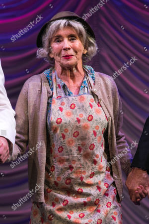 Sue Johnston (Mrs Watson) during the curtain call