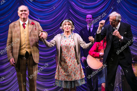 Stock Image of Richard Cordery (Birnley), Sue Johnston (Mrs Watson) and Richard Durden (Sir John) during the curtain call