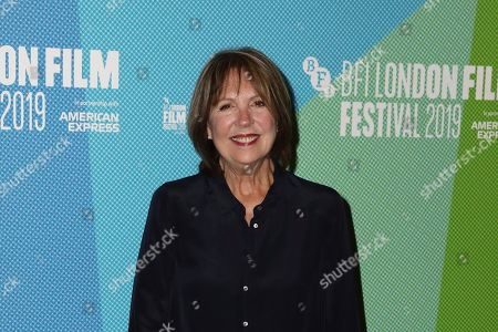 Stock Image of Penelope Wilton poses for photographers, on arrival at the Premiere of the film 'Eternal Beauty' which is screened as part of the London Film Festival in central London on