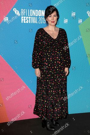 Stock Picture of Alice Lowe poses for photographers, on arrival at the Premiere of the film 'Eternal Beauty' which is screened as part of the London Film Festival in central London on