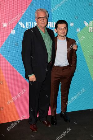 Adrian Bate, Craig Roberts. Producer Adrian Bate, left, and DIrector Craig Roberts, pose for photographers, on arrival at the Premiere of the film 'Eternal Beauty' which is screened as part of the London Film Festival in central London on