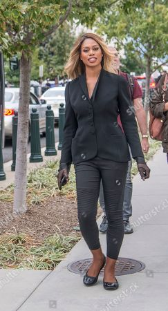 Stock Picture of Lavern Cox,a Transgender actor arrives at the US Supreme Court to hear arguements involving discrmination against the Lesbian, Gay, Bi-Sexual and Transgender (LGBT) community