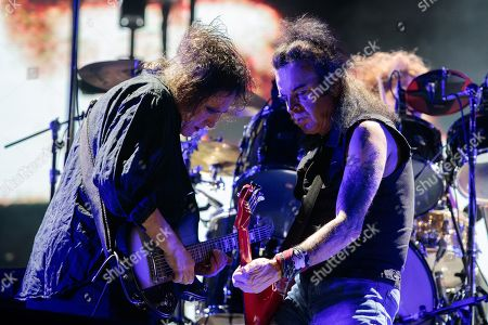 The Cure - Robert Smith (L) and Simon Gallup during the ACL Music Festival 2019 at Zilker Park on October 05, 2019 in Austin, Texas.