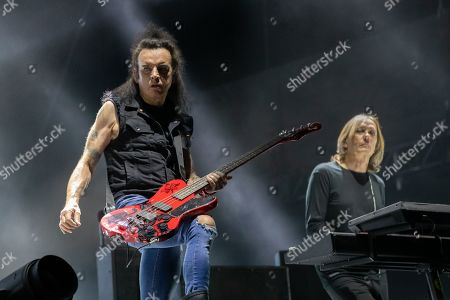 The Cure - Simon Gallup and Roger O'Donnell during the ACL Music Festival 2019 at Zilker Park on October 05, 2019 in Austin, Texas.