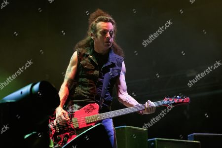 The Cure - Simon Gallup during the ACL Music Festival 2019 at Zilker Park on October 05, 2019 in Austin, Texas.