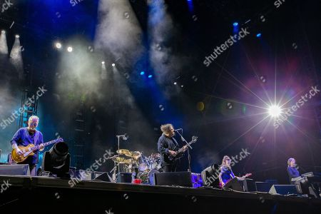 The Cure - Reeves Gabrels, Robert Smith, Simon Gallup, and Roger O'Donnell during weekend one, day two of Austin City Limits Music Festival at Zilker Park