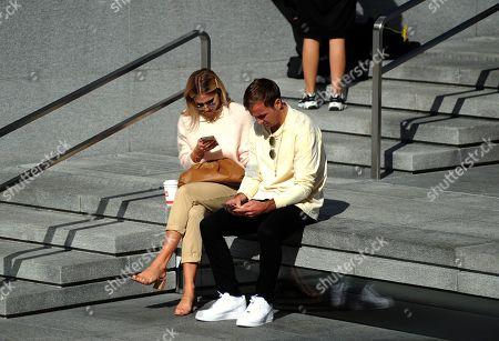 Mario Gotze and Ann-Kathrin Brommel