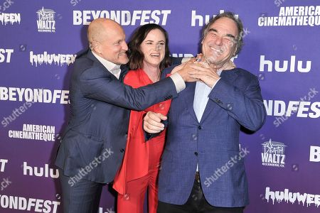 "Woody Harrelson, Juliette Lewis, Oliver Stone. Woody Harrelson, from left, Juliette Lewis and Oliver Stone attend Beyond Fest 25th Anniversary Screening of ""Natural Born Killers"", in Los Angeles"