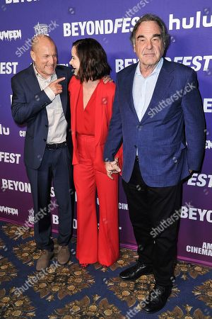 "Woody Harrelson, Juliette Lewis, Oliver Stone. Woody Harrelson, from left, Juliette Lewis and Oliver Stone attend the Beyond Fest 25th Anniversary Screening of ""Natural Born Killers,"", in Los Angeles"