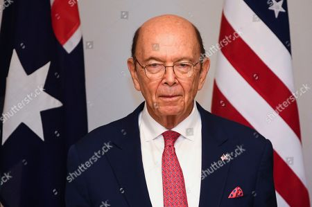 US Secretary of Commerce Wilbur Ross looks on during a meeting with Australian Resource Minister Matt Canavan (not pictured) held to discuss the Australia-US Partnership on Critical Minerals at Parliament House in Canberra, Australia, 09 October 2019.