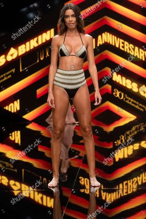 Editorial photo of Miss Bikini show, Runway, Swimwear Fashion Week, Expomeloneras, Maspalomas, Gran Canaria Island, Canary Islands, Spain - 05 Oct 2019